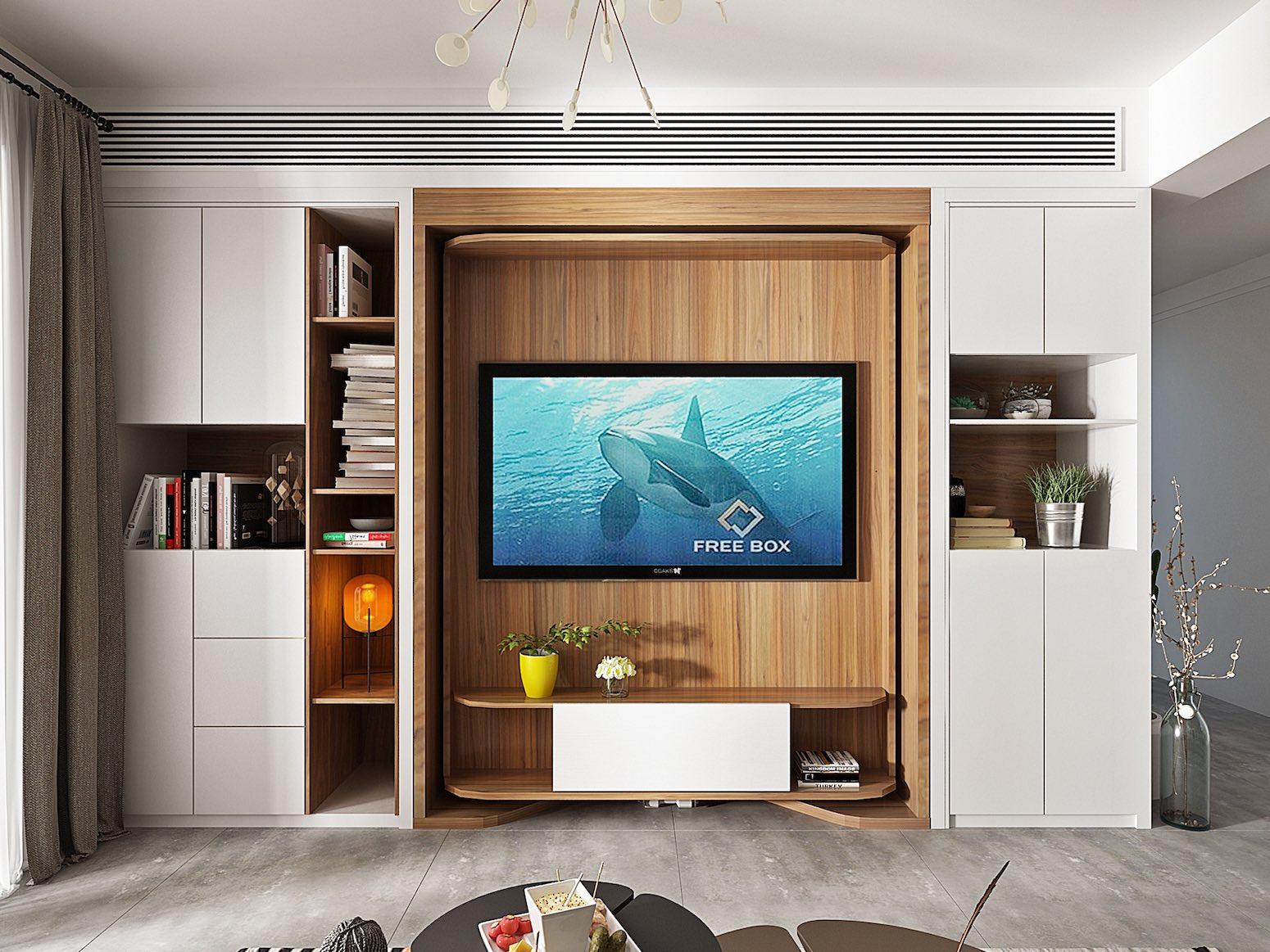 Revolving TV Hidden Bed